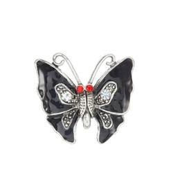 Canada papillon motif bouton pression opale Fit 18mm bouton pression BraceletsCollier Pour Bijoux Snap Offre