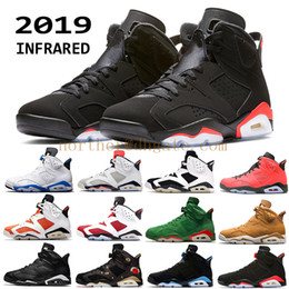 Canada 2019 Nike Air Jordan 6 hommes Noir Infrarouge 6 6s Chaussures de Basketball mens CNY Carmine Gatorade Vert Bricoleur UNC Black Cat Baskets de Designer supplier split shoes Offre