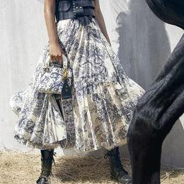 2019 seltsame pflanzen Marke Designer Frauen Vintage Print Röcke 2019 Sommer Herbst Mode Hohe Elastische Taille Lange Party Röcke Streetwear