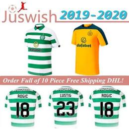 Camisas de futebol marrom on-line-19 20 MCGREGOR GRIFFITHS Mens Futebol Celtic SINCLAIR FORREST BROWN Rogic CHRISTIE Casa Fora Camisas Goleiro manga curta de Futebol