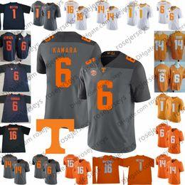 Personalizado Voluntários Tennessee # 6 Alvin Kamara 16 Peyton Manning 1 Jason Witten 14 Eric Berry Laranja Cinza Branco 2019 NCAA Football Vols Jersey de