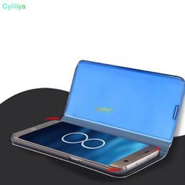 Portefeuille Miroir Etui Officiel Pour Iphone XR XS MAX X 10 8 7 Galaxy S10 Lite S9 Note 9 8 S8 Flip Placage Cuir Smart Window Métallisé Chromé ? partir de fabricateur