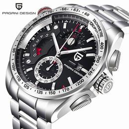 PAGANI DESIGN Luxury Brand Спортивные часы кварцевые из нержавеющей стали Полное вахты Мужские часы / CX-2492C SH190929 от