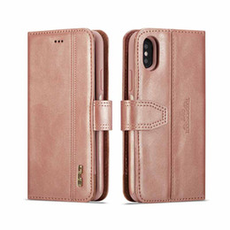 card pocket cover Coupons - Luxury PU Leather Wallet Flip Phone Cases For iPhone XR Wallet Card Slots 2 in 1 Magnetic Cover for iphone XS Max X 6s plus 7 8plus