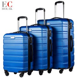 2019 28 чемодан чемоданчика 3 шт комплект семейный костюм прокатки багажа с замком Spinner легкий высокая прочность продолжить чемодан путешествия багажа 20