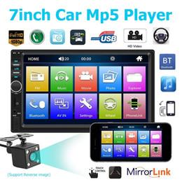 Kamera-spieler online-7 Zoll 2 Din Bluetooth Auto Mp4 Mp5 Autoradio Video Player Spiegel Link Lenkradsteuerung Rückfahrkamera Optional
