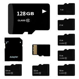 tarjetas micro sd para celulares Rebajas 5PCS / LOT Class 10 TF Tarjeta de memoria flash 4GB 8GB 16GB 32GB 64GB 128GB Tarjeta Micro SD Clase 10 para teléfono celular cámara Tablet PC Adaptador SD gratuito
