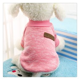 yorkie clothing Coupons - Dog Apparel Classic Sweaters Pet Puppy Clothes Warm Winter Soft Cat Jacket Coat Hoodies For Chihuahua Yorkie Dogs Dustproof