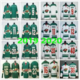 2020 esteras de nylon Minnesota Wild # 11 Zach Parise 9 Mikko Koivu 12 Eric Staal 16 Jason Zucker 20 Ryan Suter 36 Mats Zuccarello 40 Devan Dubnyk los jerseys del hockey rebajas esteras de nylon