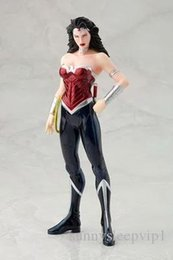 justice toys Coupons - Wonder Woman 1 8 Scale Painted Figure Justice League Doll Brinquedos Anime PVC Action Figure Collectible Model Toy 18cm KT3414