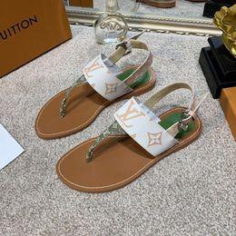 Гладиаторская обувь онлайн-Роскошные дизайнерские женские сандалии с принтом кожа летний пляж плоские слайды флип-флоп мода Гладиатор сандалии суперзвезд большой размер обуви