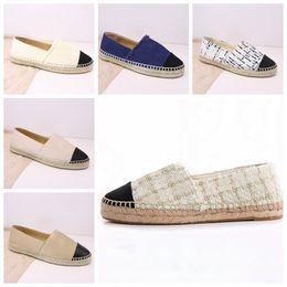Zapatos de diseñador talla 34 online-Alpargatas Diseñador de mujer Calzado casual Zapatos de cuero sin cordones Plataforma Hombre Alpargatas Sandalias con caja tamaño 34--42