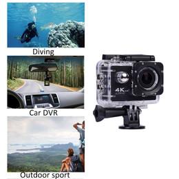 Câmera de ângulo aberto on-line-Sports ação da câmera impermeável Sport Outdoor Camera Wide Angle WiFi 4K Ultra USB HD 720P DVR Cam com controle remoto