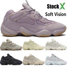 Vision douce Désert de pierre Rat 500 chaussures de course ouest kanye os blanc super lune noir sel hommes Utility jaune femmes chaussures sport