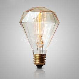 G95 Diamante Edison Lâmpada 40 W 220 v Antique Vintage lâmpada luz Incandescente Lâmpada Edison Luz Moda Incandescente Edison Lâmpada de Fornecedores de comercial sinais de néon por atacado