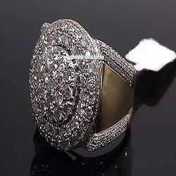 Bagues pour anniversaire de mariage en Ligne-Diamant Rond Diamant Pinky Band Hommes Bague Anniversaire Cadeau Fiançailles De Mariée Anneaux De Mariage Taille De Bijoux 5-11