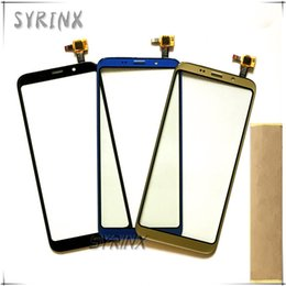 Bluboo для мобильного телефона онлайн-Syrinx With Tape Mobile Phone Front Glass Touchscreen Sensor For Bluboo S8 Touch Screen Digitizer Panel Replacement Touchpad