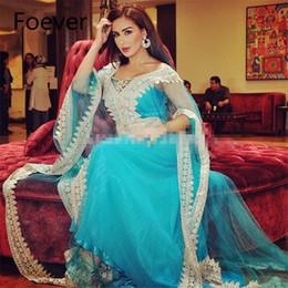 2019 dubai tulle abaya Халат де суаре 2019 Асо EBI стиль Абая Дубай кафтаны кафтан с длинными рукавами аппликации тюль синее вечернее платье для женщины скидка dubai tulle abaya