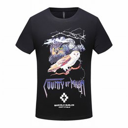 T shirt slim tatouage en Ligne-La mode des marées à manches courtes T-shirt masculin col rond Slim marée personnalité des hommes de tatouage vêtements