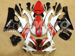 Wholesale Nuevos kits de carenado ABS para moldes de inyección aptos para YAMAHA YZF R6 YZF600 R6 conjunto de carrocerías Personalizado gratis rojo negro blanco