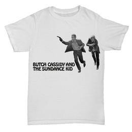 BUTCH CASSIDY E LA SUNDANCE KID RETRO VINTAGE FILM MOVIE CLASSIC T SHIRT divertente t shirt in cotone 100% cheap kids vintage t shirts da magliette da uomo vintage fornitori