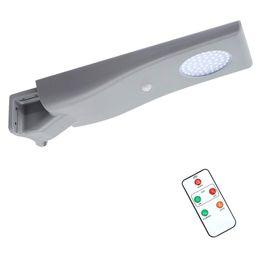 luce esterna di sicurezza esterna esterna senza fili Sconti Lampione stradale a LED a energia solare - 15W 6000K Illuminazione stradale a energia solare, impermeabile, 1800LM Sicurezza Luce solare esterna senza fili con sensore di movimento