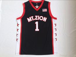 9db0a3b46190 2019 nuevo de alta calidad Montjuan Christian Academy   1 TRACY College  McGRADY bordado negro cosido Baloncesto Jersey