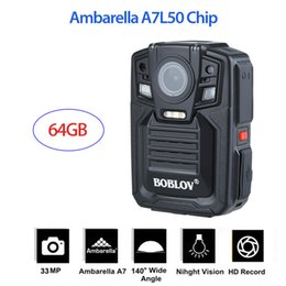 Deutschland 64GB Ambarella A7L50 Super HD 1296P Polizeikamera IR Night Version 140 ° Versorgung