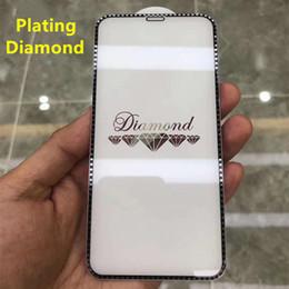 Écrans de diamant en Ligne-Verre trempé Diamond pour iphone 6 7 6 s 8 plus verre XS max XR iphone 7 8 x verre de protection pour écran