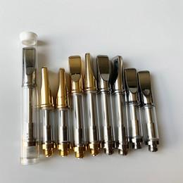 réservoir de cigarette électronique Promotion 92A3 cartouches de vape en verre 0.5ml 1ml mèche bobine épaisse cartouche de stylo vape huile cigarette électronique vaporisateurs avec tube en plastique 5000pcs