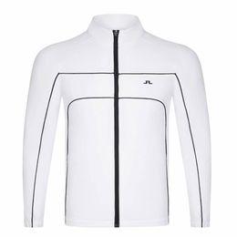 casacos finos do lazer dos homens s Desconto dos homens Sportswear manga comprida JL Golf pára-brisa Golf completa Vestuário S-XXL na escolha de veludo fino casaco Lazer Além disso,