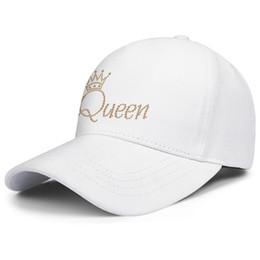 Музыкальные группы логотипы онлайн-Queen-Music-band-Cool-logo белые мужские и женские колпаки для грузовиков