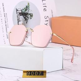 2019 gafas de sol de bloque miumiu 9007 gafas de sol de diseñador vintage para hombres actitud marcos cuadrados de metal uv400 lentes gafas de protección exterior con caja naranja gafas de sol de bloque baratos