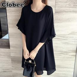 b64511cbb30 robes papillon plus mousseline taille Promotion 2019 Nouveau 5xl 4xl 3xl  Été Femmes Mode Lâche Mignon