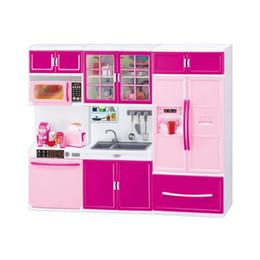 Muebles para casas de muñecas online-Utensilios de cocina de plástico Recipiente de olla Accesorios de cocina Juguetes Cocina Cocinar Juegos de simulación Educación Casa de muñecas Cocina Simulación Juego de muebles