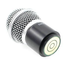 Решетки для замены онлайн-Профессиональная замена картриджа капсулы беспроводной микрофон ручной микрофон SM 58 глава капсула гриль для PGX 24 / SLX 24