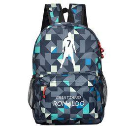 coole packtaschen Rabatt Teen Ronaldo Schulrucksack Taschen für Jungen Teenager Rucksack Männer Ronaldo Kinder Cool Schoolbags