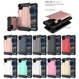 Iphone caso armatura dura online-Custodia in TPU per PC resistente agli ibridi con armatura resistente per iPhone 11 Pro MAX 2019 XR XS Samsung Note 10 10+ 5G S10 A10 A20 A30 A40 A50 A60 A70 A2 Core
