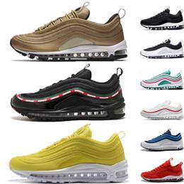 Nike air max 97 chaussures de course Og Triple white Chaussures de course OG Metallic Gold Silver Bullet Rose Baskets pour hommes Baskets de sport
