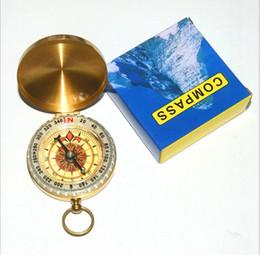 Camping Caminhadas portátil Gold Brass Compass Mini navegação para Actividades ao Ar Livre Esportes Novelty Brinquedos Dedo Gag Kid Toys presente de