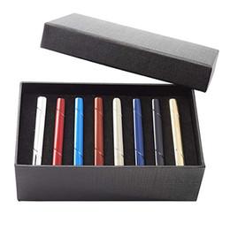 Cajas de regalo online-Barra de corbata de raya de lujo para hombre, clip de acero inoxidable para sujetar la corbata, juego para camisa de negocios Corbatas de corbata regulares, 2,3 pulgadas con caja de regalo
