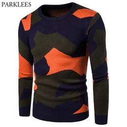 2020 suéter de crochê para homens Camuflagem Sweater Homens 2017 Marca New Mens Casual malha Camisolas Outono Inverno Long Sleeve Slim Fit Crochet sweater pullover suéter de crochê para homens barato