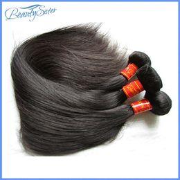 tissage original de cheveux humains Promotion Beautysister cheveux haut de gamme original vierge malaisienne faisceaux de cheveux raides 3 pièces 300g beaucoup 100% extensions de cheveux malaysiens tisse