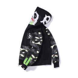 Стандартные мыши онлайн-19FW Весна и Осень Новый Кунг-Фу Панда Мышь Отпечатано Японский Прилив Ночное Пятно Шить Санитарная Одежда Мужские и женские Шляпы