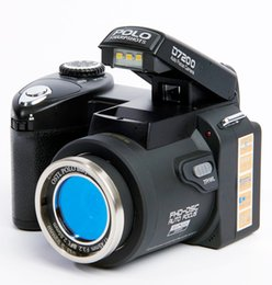 2019 cámaras digitales telefoto Cámara digital POLO D7200 libre de DHL 33MP 1080P Auto Focus SLR Cámara de video HD 24X + lente teleobjetivo lente gran angular LED luz de relleno cámaras digitales telefoto baratos