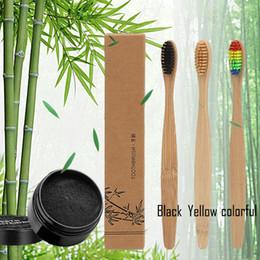 Kit oral on-line-Em estoque!! Dentes Branqueamento Em Pó Natureza De Carvão Ativado De Bambu Sorriso Em Pó Descontaminação Dente Amarelo Mancha De Creme De Dente De Bambu Oral