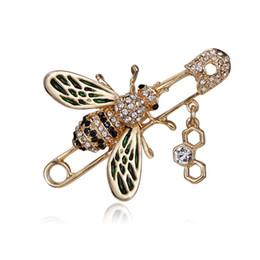 markenbrosche Rabatt 2019 top brand designer biene brosche frauen weiblichen strass perlen luxus brosche anzug abzeichen marke schmuck