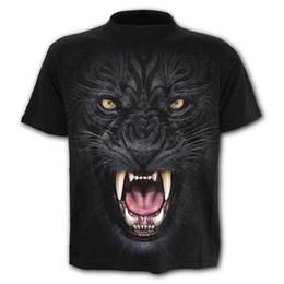 b4549d121 popular 2019 summer 3d tiger head Exquisite digital printing men's fashion new  trend short sleeve t shirts Youth T-shirt