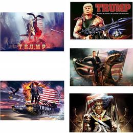 2019 fibra decoração Donald Trump EUA Bandeiras 90X150 CM Impressão Digital Bandeira de Fibra De Poliéster Jardim Bandeira Moda Casa Decoração Do Partido TTA1056 fibra decoração barato