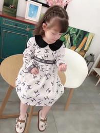 vestido de cumpleaños de diseñador para niñas Rebajas Diseñador de marca vestido de carta de niña / vestido de lujo de algodón de moda / vestido de calidad de regalo de cumpleaños de niña verano caliente manga corta / camiseta